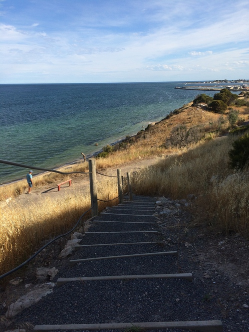 Steps down to the beach -Port Vincent