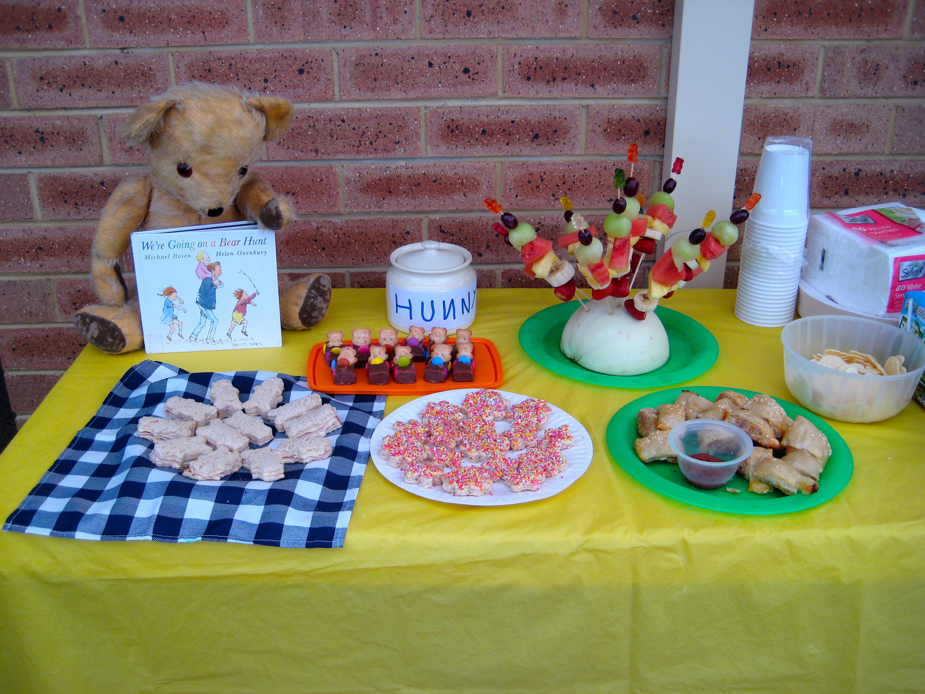 Homemade Cut Flower Food Birthday Party Theme On A Budget Teddy Bear Picnic