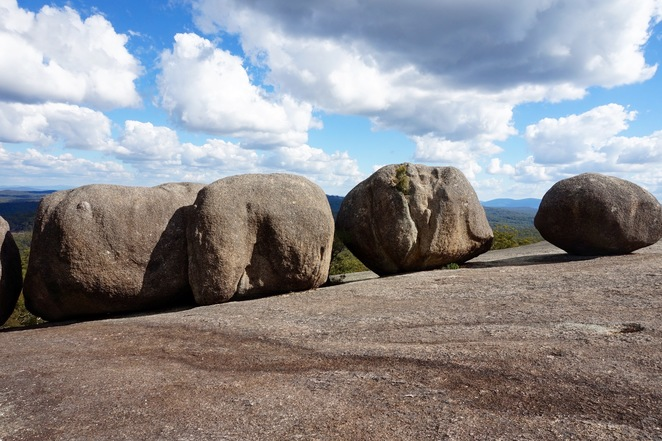 The boulders at the summit
