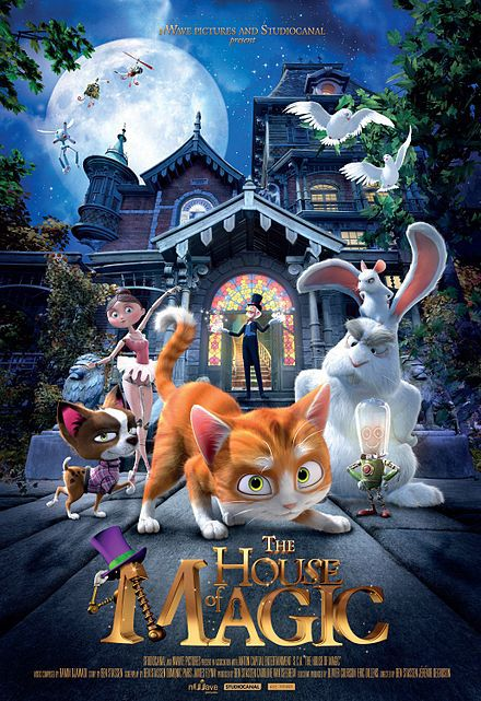 The House of Magic movie kids children cat magic film cinema review poster