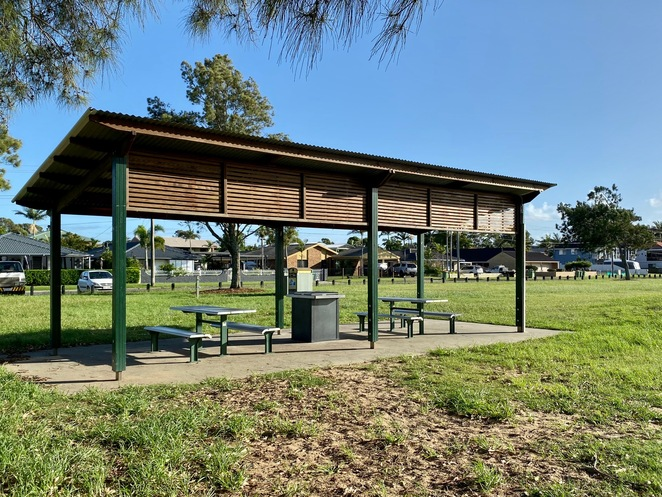 A picnic and BBQ shelter at WH Yeo Park