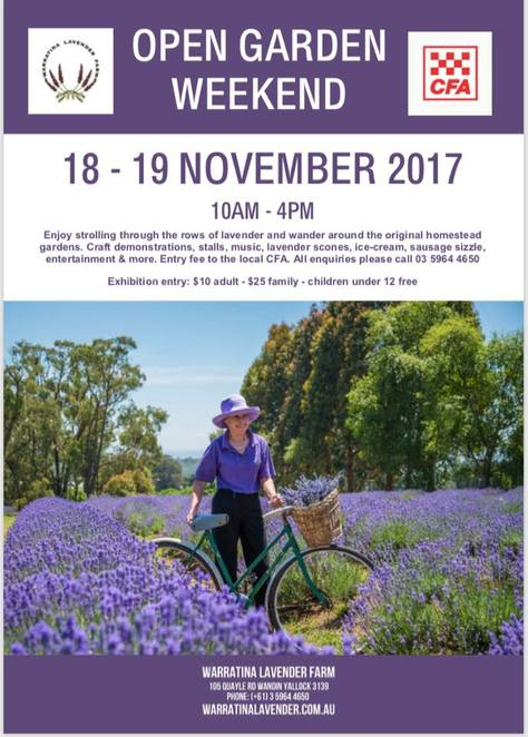 Warratina Lavender Farm, Open garden Weekend, day, 2017