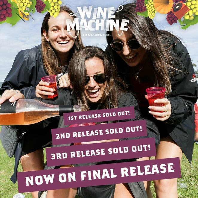 wine machine 2019, community event, fun things to do, the presets, hayden james, hot dub time machine, confidence man, graace, sunshine & disco faith choir, kinder, hapiness is walth, alex rat dog dyson, electronic music, entertainment, wine event, grapevines of australia, wine regions, wine heartland, feasting and frivolity, date night, family fun, night life