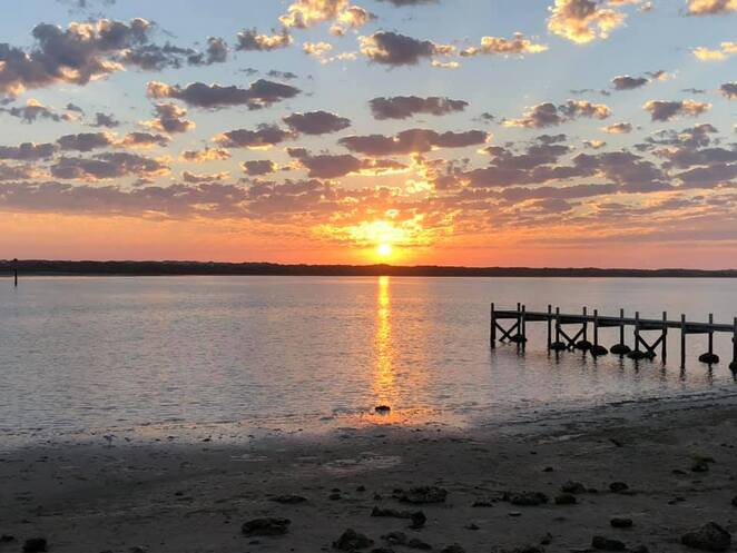 The Murray Mouth sunset