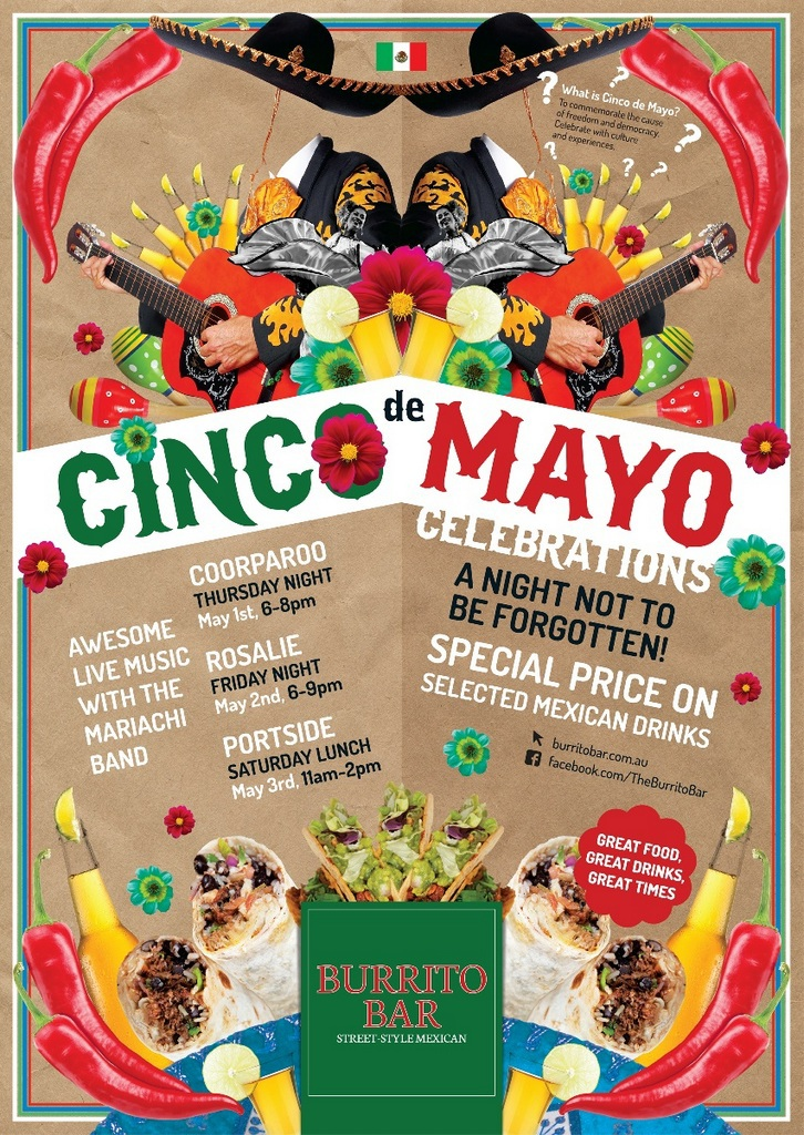 Cinco de mayo date in Brisbane