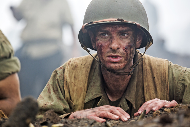 Andrew Garfield in Mel Gibson's Hacksaw Ridge