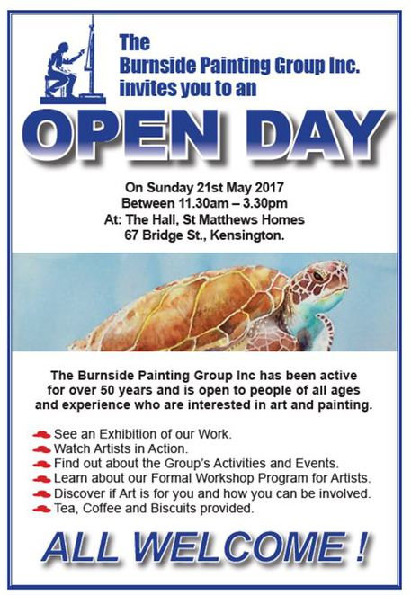 artists, open days, community arts group, burnside