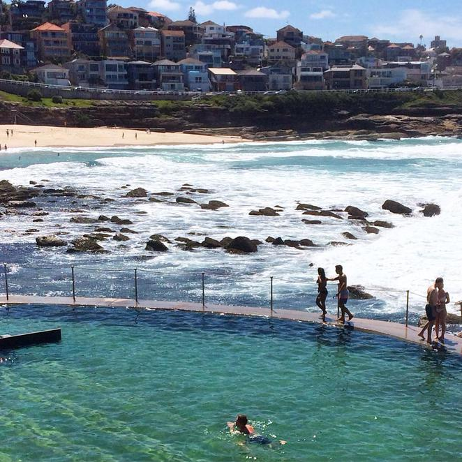 bronte, beach, ocean, pool, bath, surf, waves