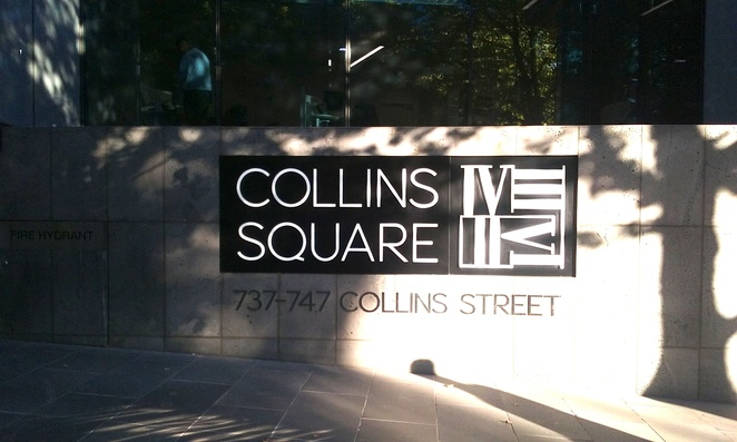 Collins Square Street Sign 737 Collins Street Melbourne
