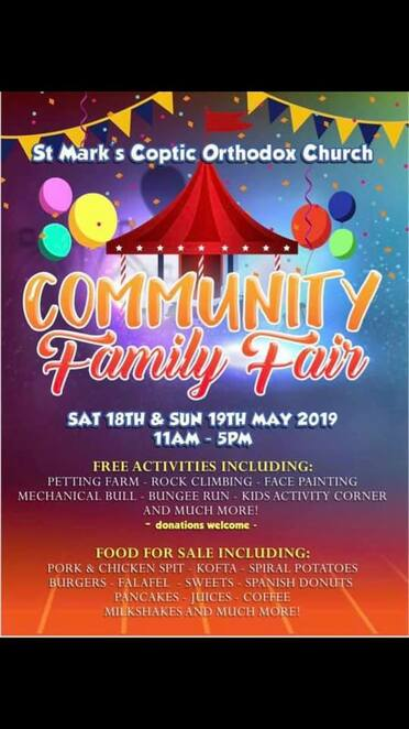 community family fair 2019, community event, fun things to do, st mark's coptic orthodox church melbourne, st mark's coptic orthodox church youth melbourne, presto, free event, food and fun, family event, activities, entertainment