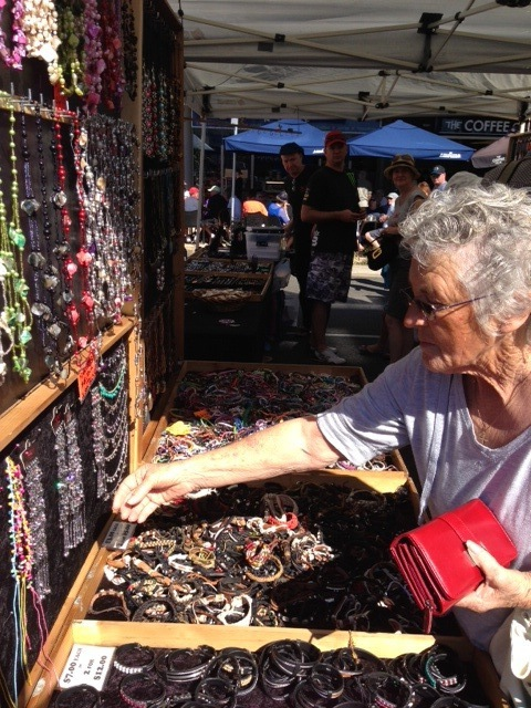 Cotton Tree markets, clothing, sweets, Sunday