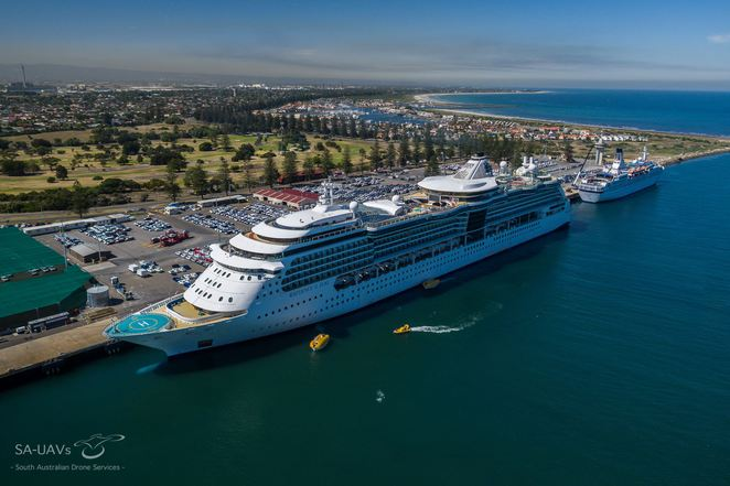 Cruise Ships in South Australia, Penneshaw, Kangaroo Island, Port Lincoln, Ovation of the Seas, Radiance of the Seas, Voyager of the Seas, Astor, Pacific Jewel, Pacific Eden