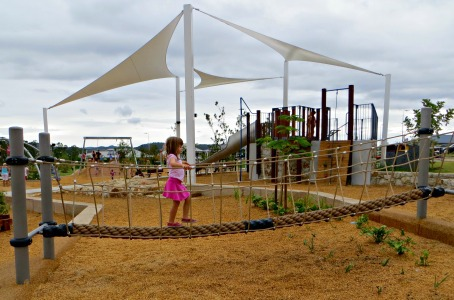 darlington parklands yarrabilba playground rope bridge