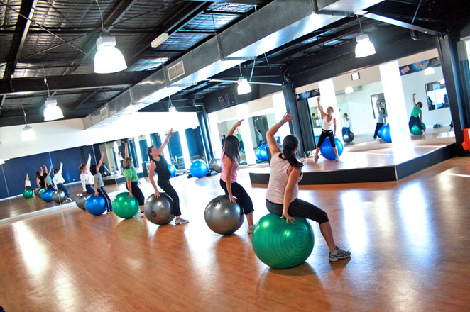 fitball group fitness women gym