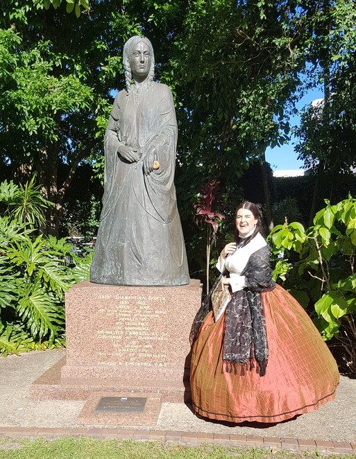 Lady Diamantina Bowen statue Old Government House Brisbane
