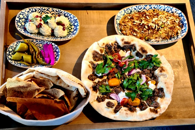 Middle Eastern, food, dinner, drinks, Pyrmont, Sydney, spice, flavour