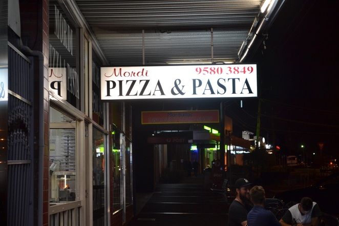 Mordi, Mordi Pizza and Pasta, Mordialloc, South East suburbs