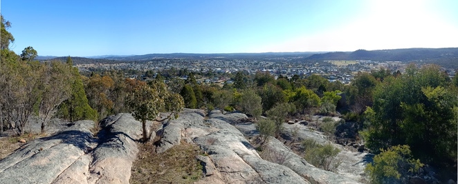 There is a great view of the area from to the top of Mt Marlay