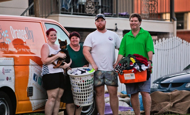 Orange Sky Laundry, Cyclone, Cyclone Marcia, Central Queensland, Lucas Patchett, Nicholas Marchesi, sponsorship, non profit