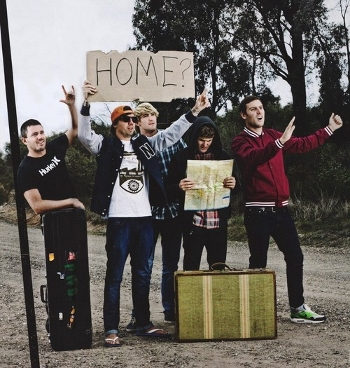 parkway drive band photo funny hitchhiking