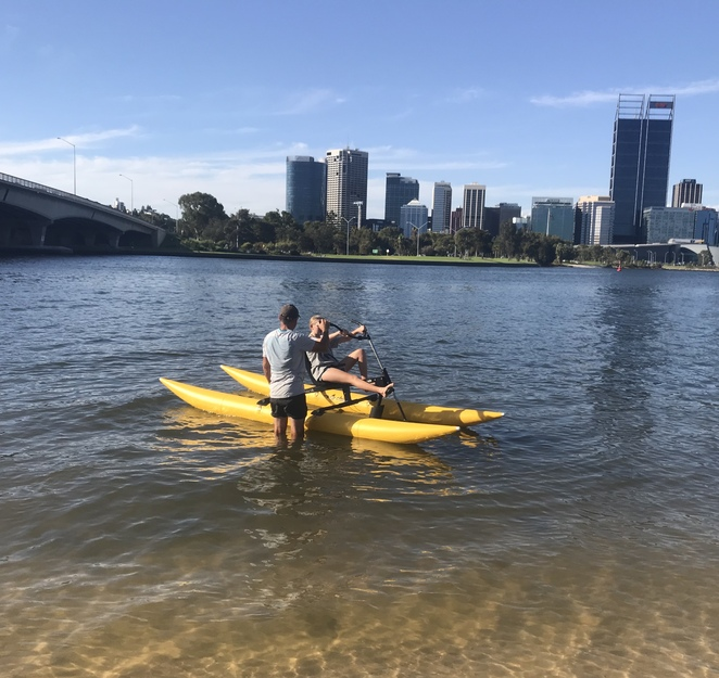 perth waterbike co, exciting things to do in perth, bike hire perth, water bike hire perth, school holidays, things to do on Rottnest, things to do in South Perth, exercise in perth, swan river fun