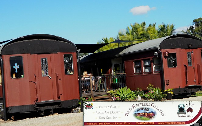red_rattler_Tweed_Valley_murwillumbah_dungay_trains_heritage_cafe_gallery_art_craft_artists_tea_cake