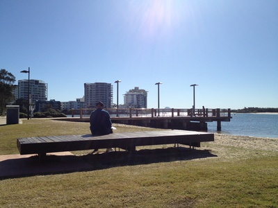 Resting up in Cotton Tree Park