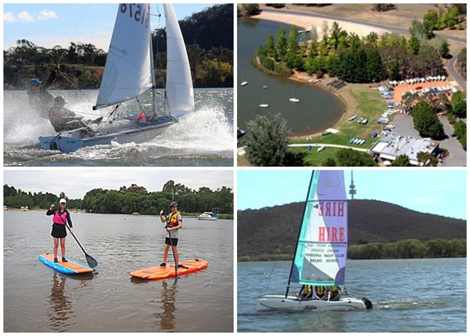 sailing, SUP, lake burley griffin, canberra, canberra yacht club, ACT, boat hire, sailing boat hire,