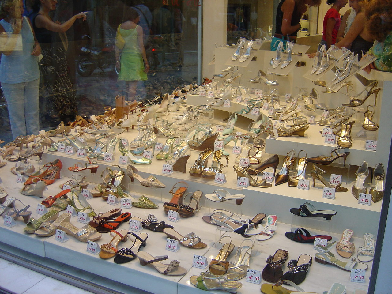 Shoe Shops In Ermou Street Athens