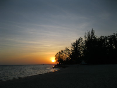 Sunset, srithanu, koh phangan