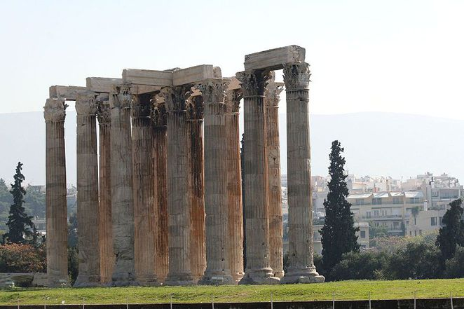 Temple of the Olympian Zeus Athens Greece