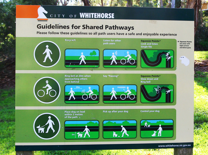 Trail users advice sign