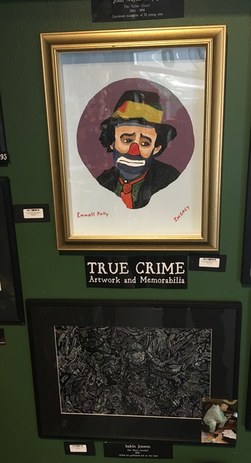 True crime artwork and memorabilia, painting by killer, Jade Jackson Photography