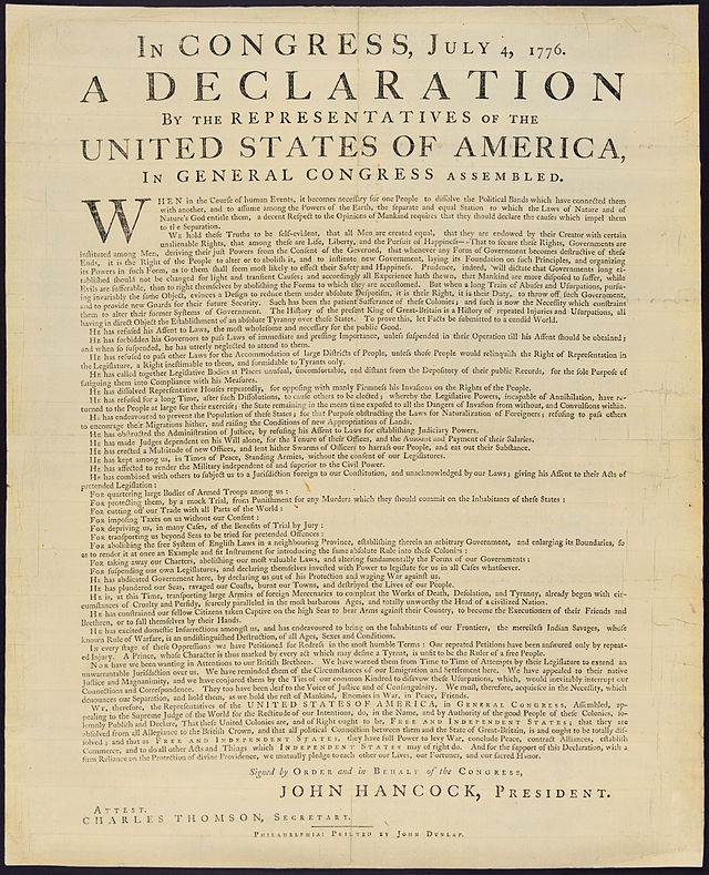 search for a national government in the decade immediately following the declaration of independence