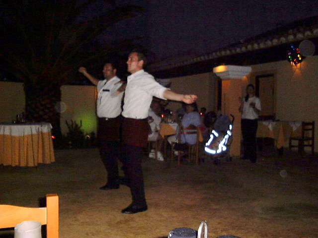 Waiters dance at Zorbas