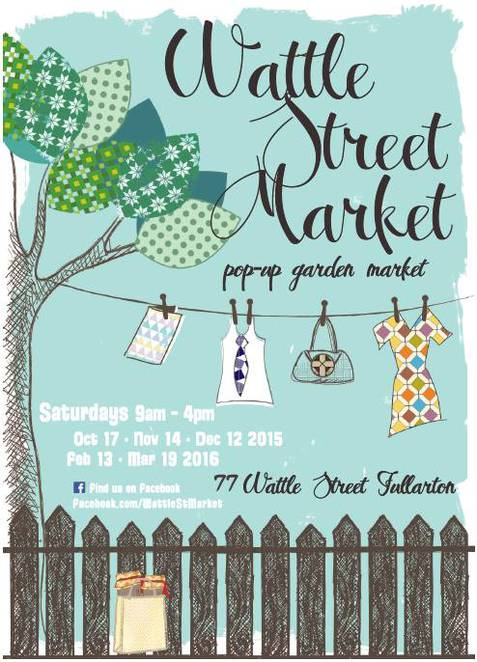 Wattle St Market, Potted Thoughts, Popup Garden Market, Miss Vintage, Food Man Chew, Shanghai Lil and the Scarlet Fez, Luna and Luxe Vintage Soy Candles, Vintage Fox, Collecte, Coffee Cow, Loca Pops