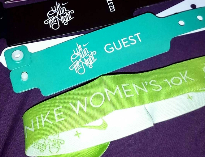 We Own The Night Nike Women's 10K wristband
