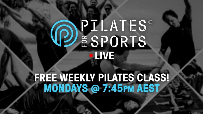 weekly pilates class free 2020, free live pilates class online, pilates for sports, special guest athletes, community event, fun things to do, health and wellbeing, free exercise class online