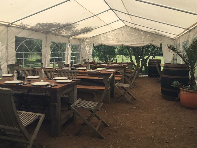 Wine tasting tent at Stonyridge