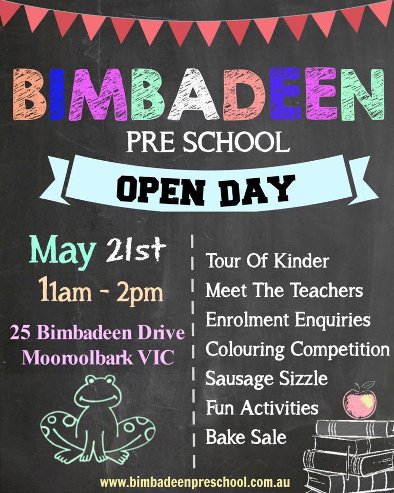 bimbadeen preschool open day