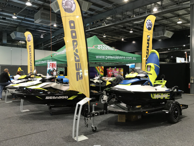 Adelaide Boat Show, boating, fishing, fishing stage, boats, On The Water, kayaks, paddleboards, ski boats, jet skis, water safety, family show
