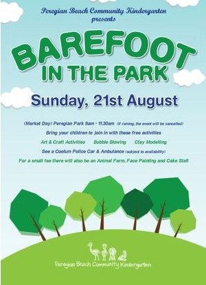Barefoot in the Park, Peregian Beach Community Kindergarten, Peregian Beach Markets, Sunshine Coast,