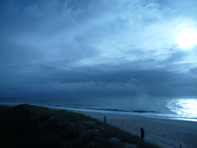 Beach Rain Morning Bribie Island