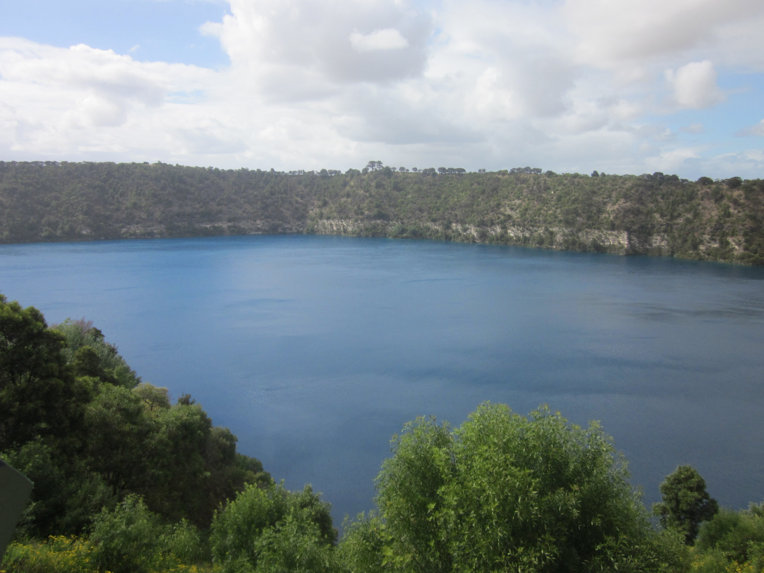 blue lake The blue lake is a large monomictic crater lake located in a dormant volcanic maar associated with the mount gambier maar complex the lake is situated near mount gambier in the limestone coast region of south australia and is one of four crater lakes on mount gambier maar.
