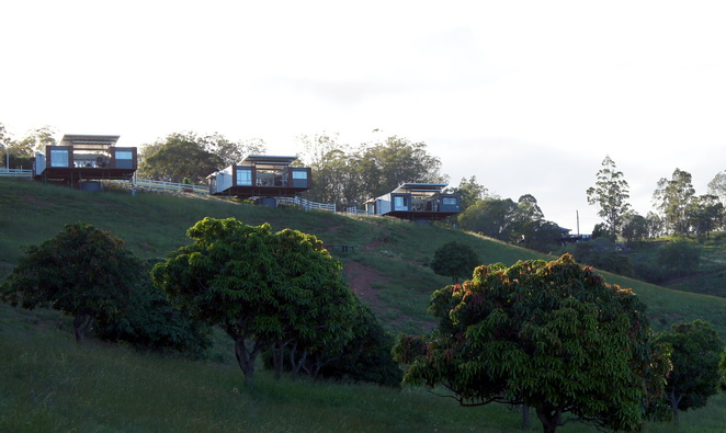Luxury cabins on the hill up above the homestead
