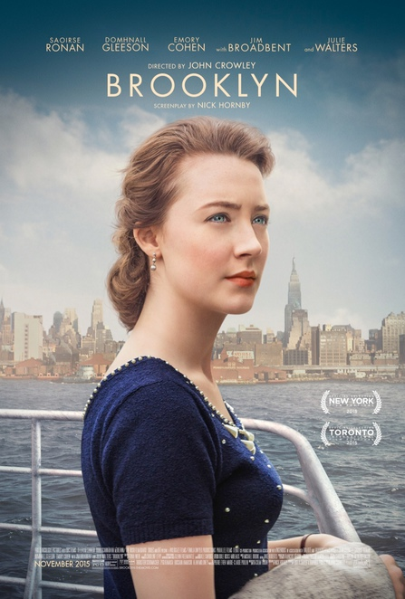 brooklyn, film review, movie review, palace cinemas, astor cinema, Saoirse Ronan, domhnall gleeson, michael zegen, mary o'driscoll, julie walters, emory cohen, eileen o'higgins, nick hornby