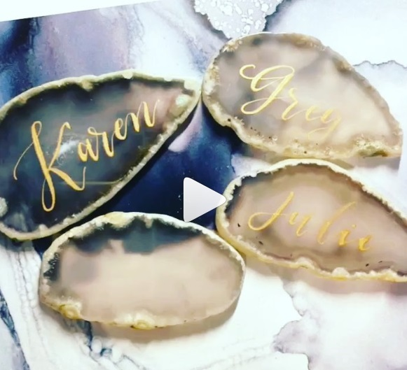 calligraphy, agate, wedding