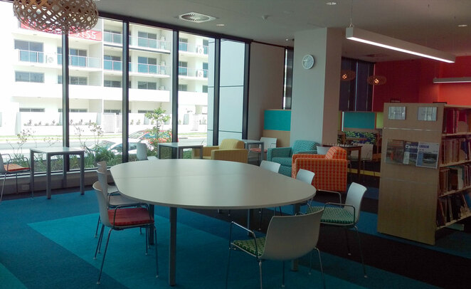 Chermside Library can be a quiet airconditioned place to relax between other activities