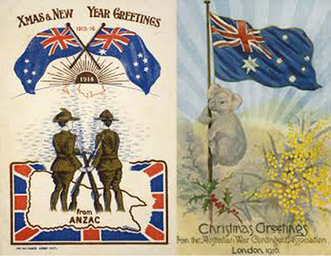 Christmas Greetings from the Front at ANZAC Cottage, Cards and Letters