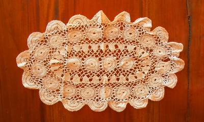 This beautiful antique doily has been crocheted, using the skills of yesteryear.